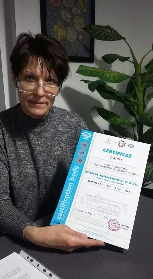 Mesajul doamnei presedinte al Asociaţiei Europeană a Drepturilor Omului şi Protecției Sociale – Riccio Daniela